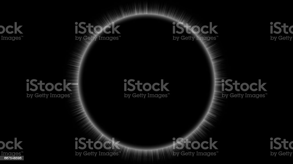 Solar Eclipse, Clean and Simple on Black Background vector art illustration