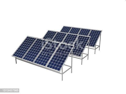 istock solar panel isolated on white 3d 1313457565