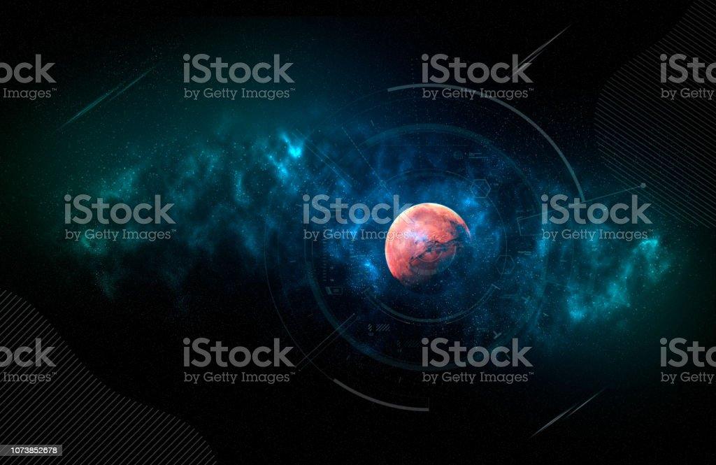 Ilustración de Sistema Solar Marte Es El Cuarto Planeta ...