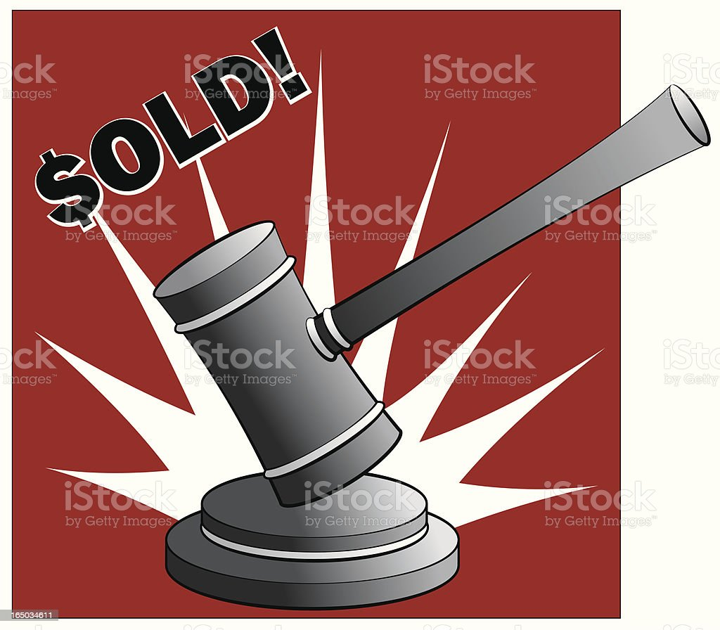Sold! royalty-free sold stock vector art & more images of agreement