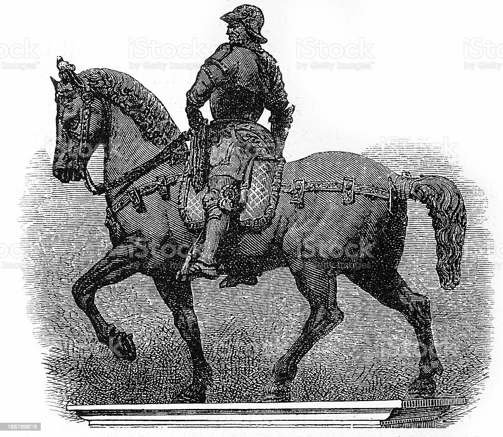 Soldier on horse in Venice royalty-free soldier on horse in venice stock vector art & more images of 19th century style