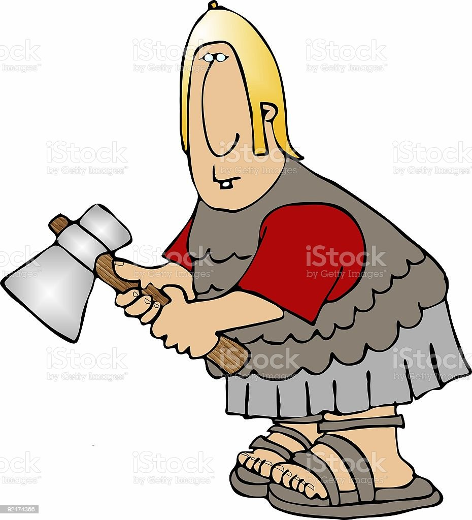 Soldier with a battle axe royalty-free soldier with a battle axe stock vector art & more images of adult