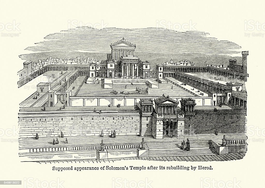 Line Drawing Jerusalem : Solomons temple ancient jerusalem stock vector art more images