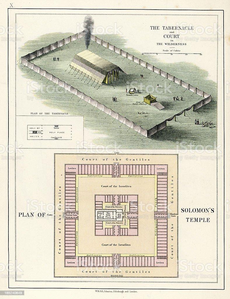 Solomon's Temple vector art illustration