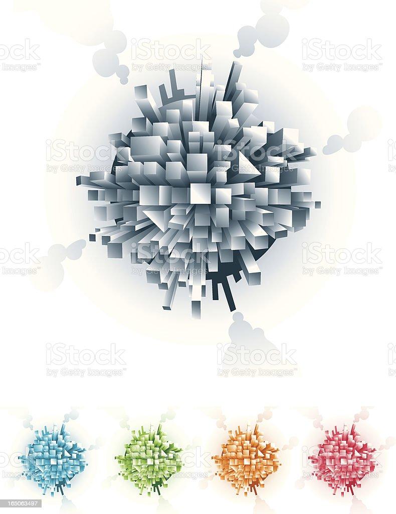 Somewhat spherical vector art illustration