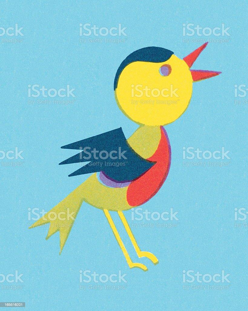 Songbird vector art illustration