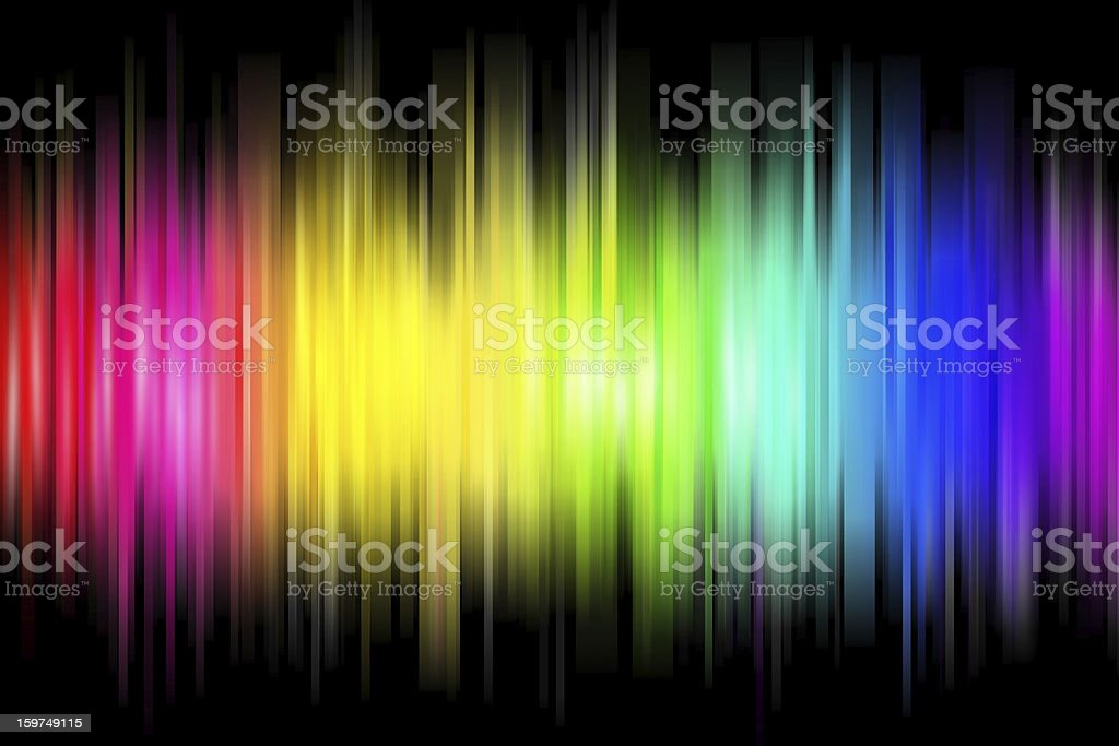 A sonic wave with rainbow colors vector art illustration