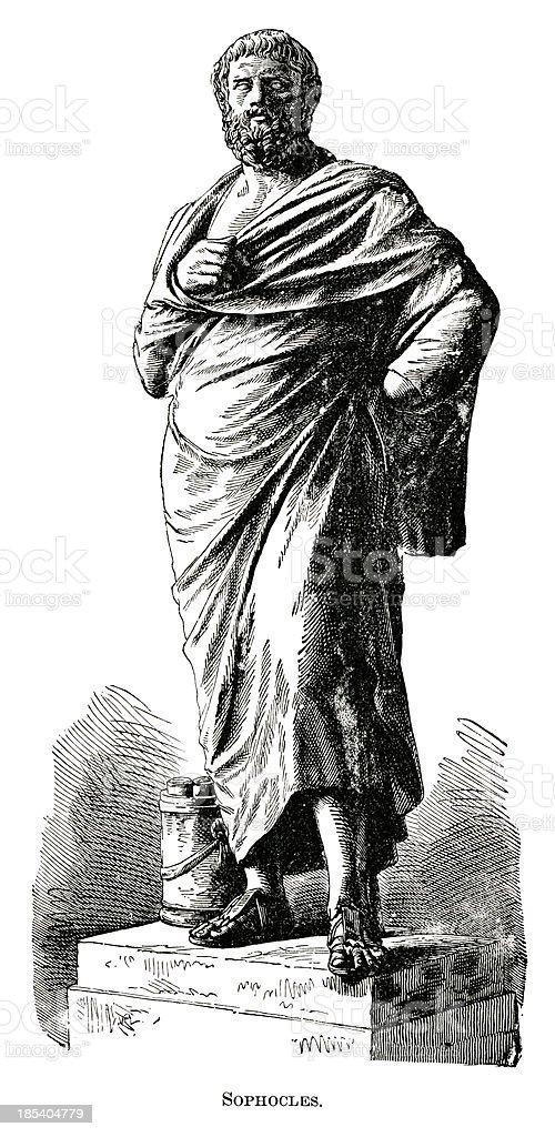 Sophocles royalty-free stock vector art