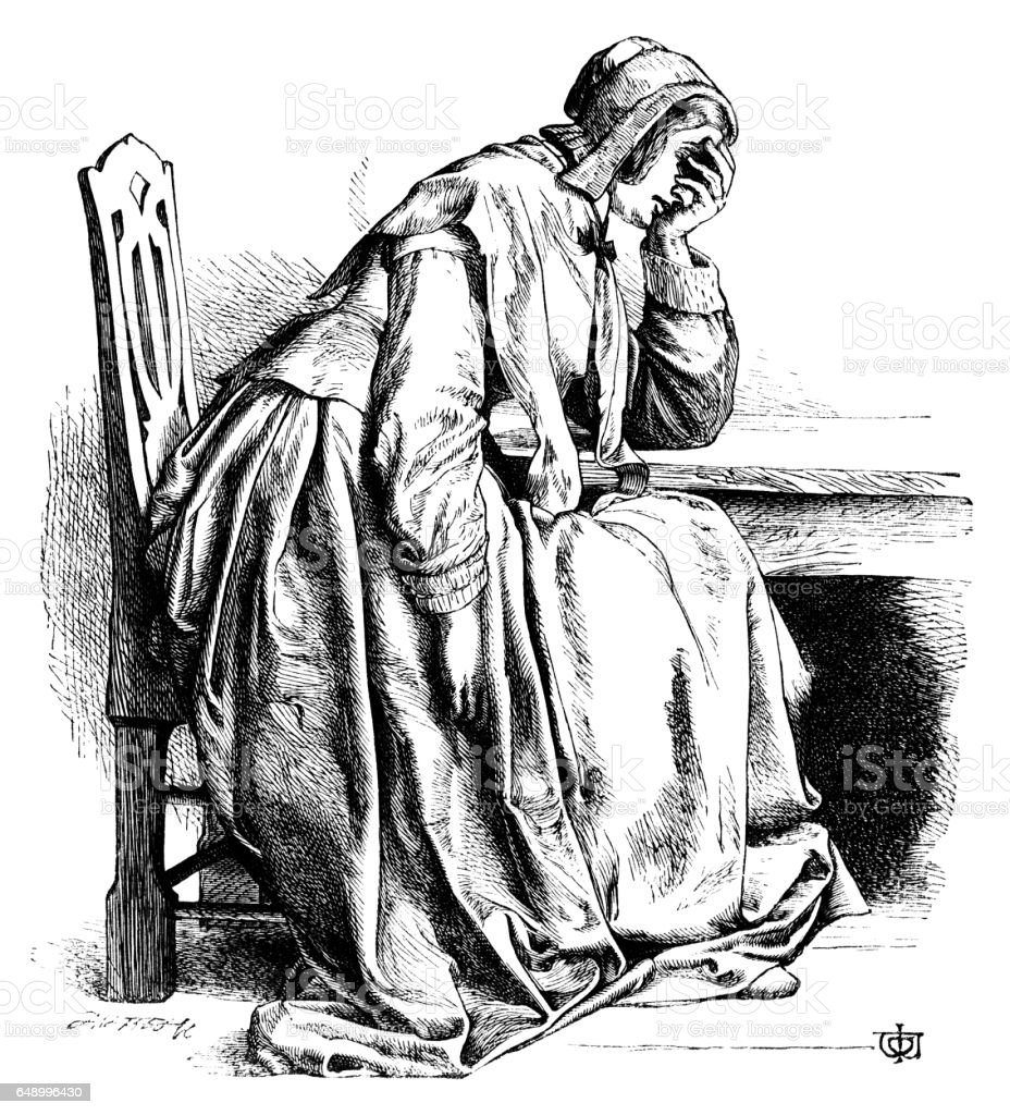 a sorrowful woman analysis