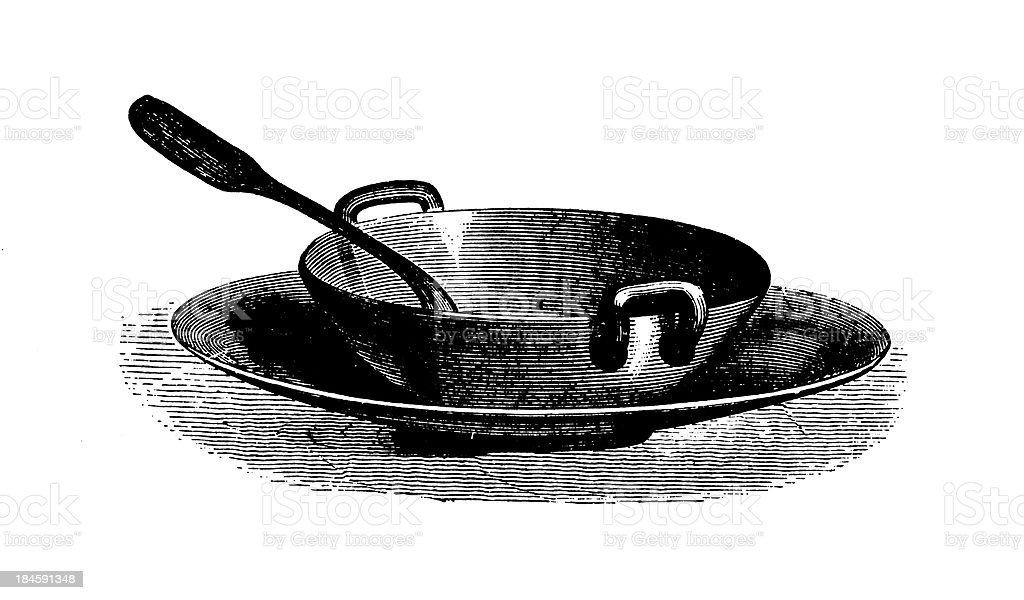 Soup bowl | Antique Culinary Illustrations vector art illustration