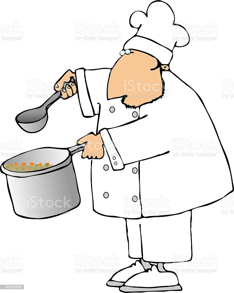 Soup chef royalty-free stock vector art