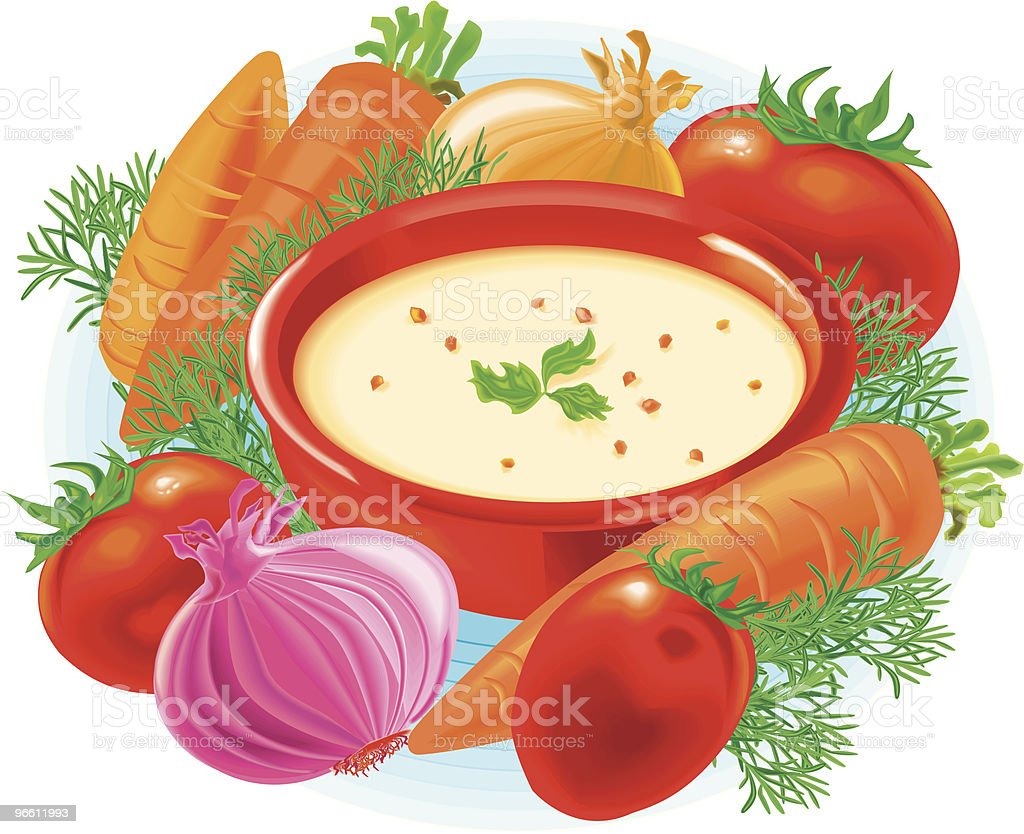 Soup - Royalty-free Carrot stock vector