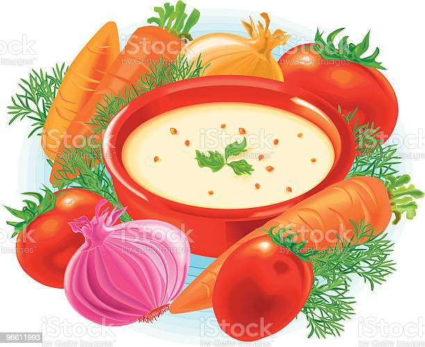 Суп — стоковая векторная графика и другие изображения на тему Суп