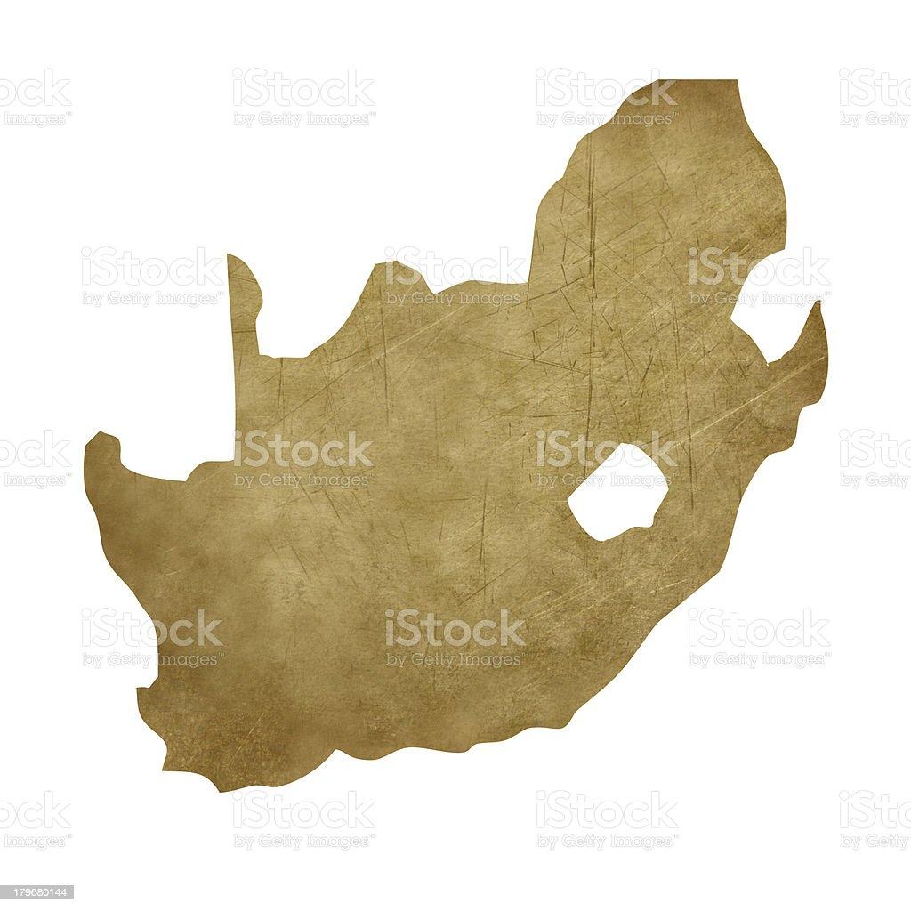 South Africa grunge treasure map vector art illustration