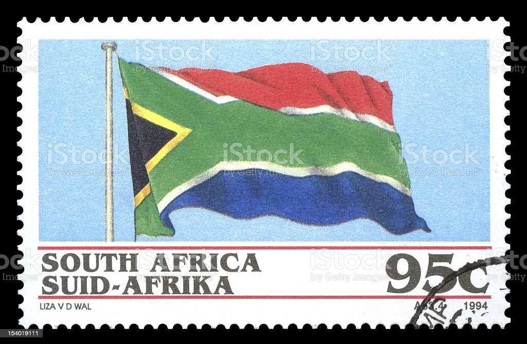 South Africa Postage Stamp National Flag royalty-free stock vector art