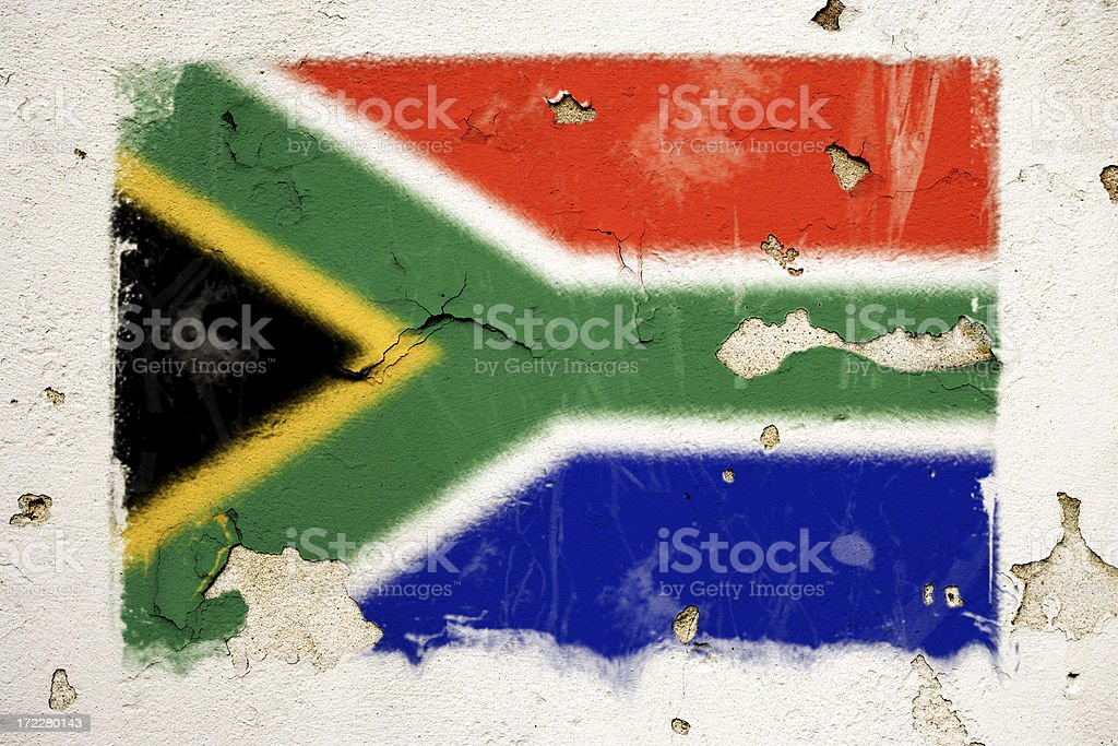 South African flag royalty-free stock vector art