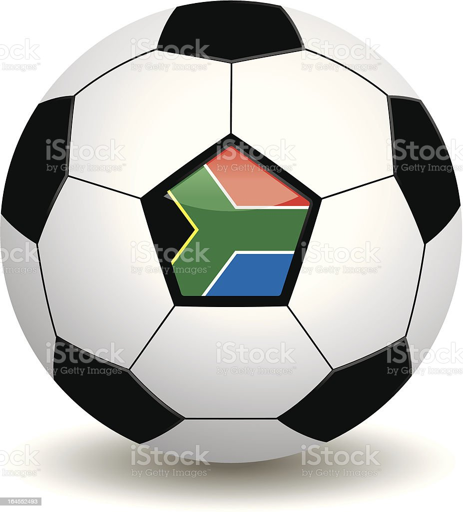 south african soccer ball royalty-free stock vector art