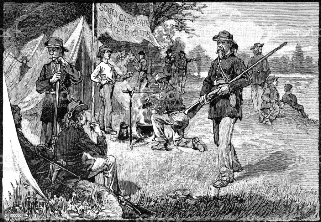 south carolina troops in Missouri vector art illustration