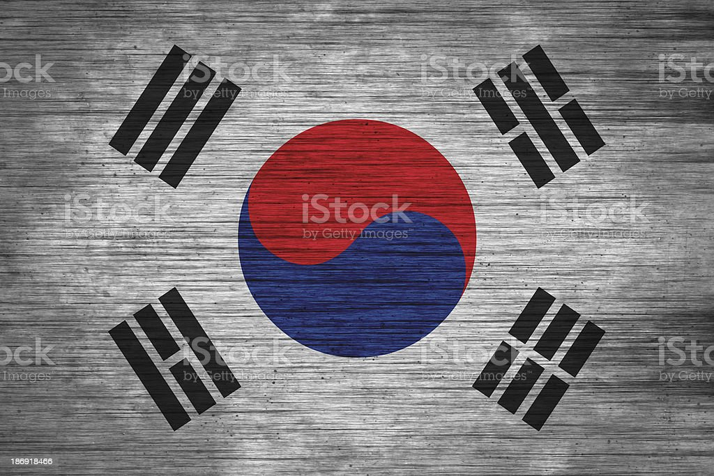 south korea flag  wood texture royalty-free south korea flag wood texture stock vector art & more images of abstract