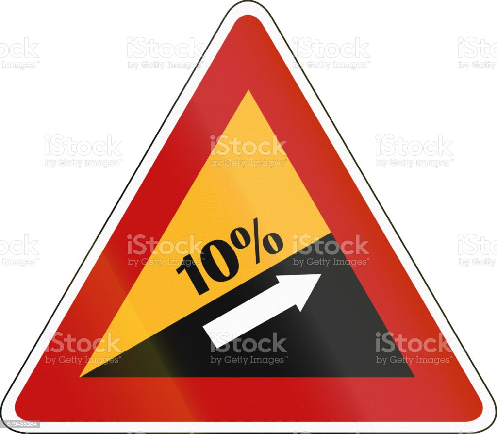 South Korea road sign - Steep hill upward south korea road sign steep hill upward - arte vetorial de stock e mais imagens de amarelo royalty-free