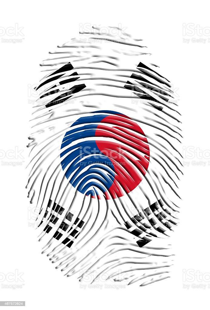 Dedo Estampa da Coreia do Sul - ilustração de arte em vetor