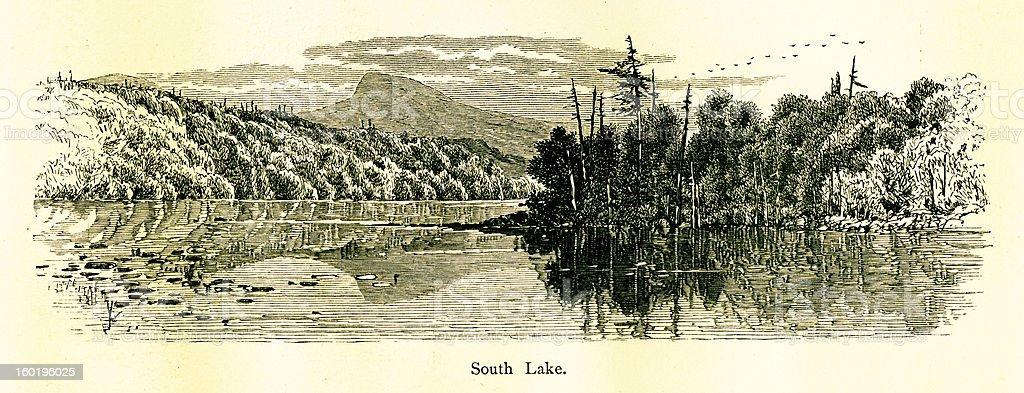 South Lake, New York vector art illustration