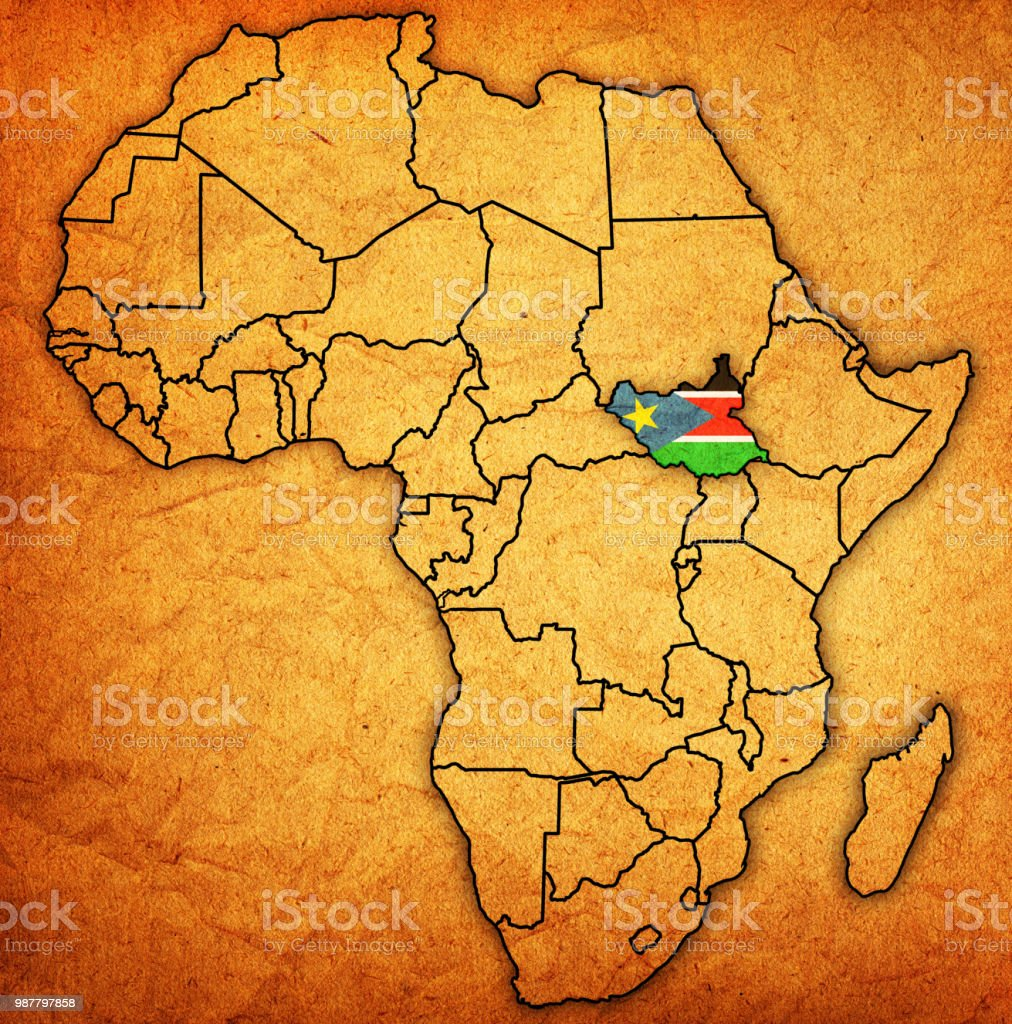 South Sudan On Political Map Of Africa Stock Vector Art More