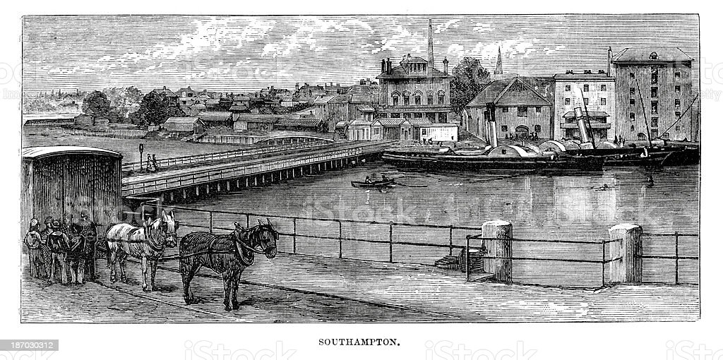 Southampton in the 19th Century royalty-free southampton in the 19th century stock vector art & more images of 19th century
