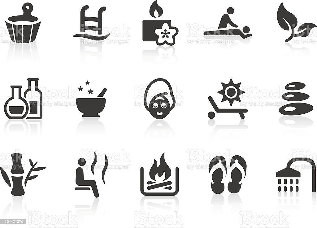 Spa and Wellness icons vector art illustration
