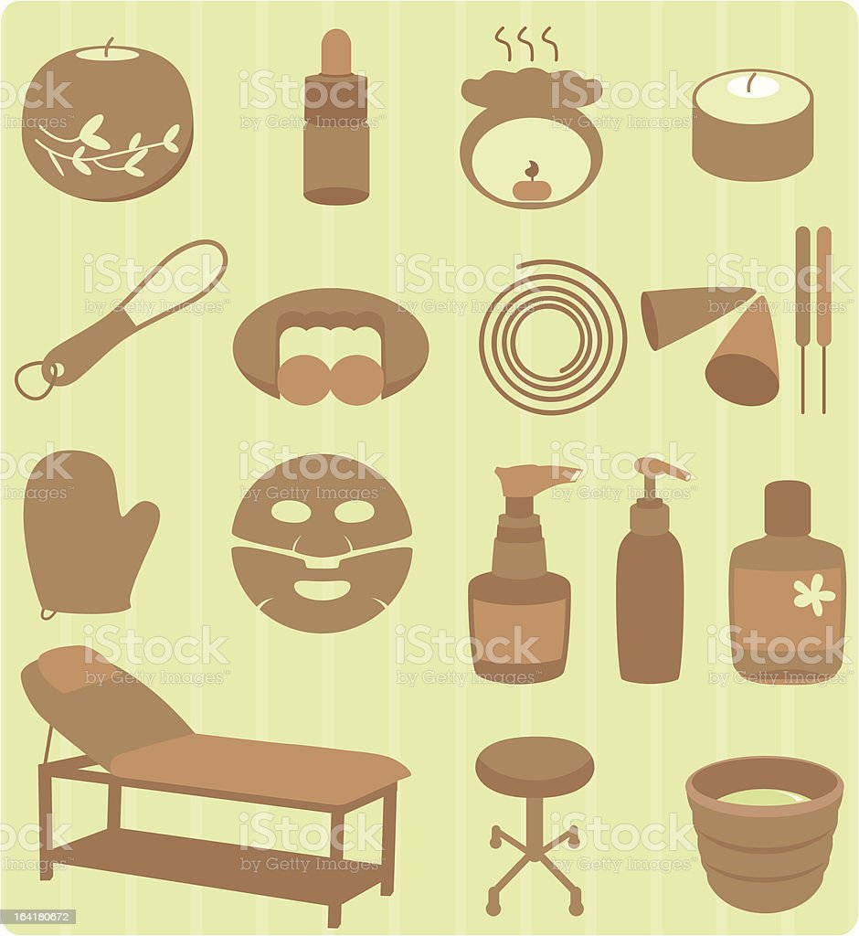Spa, Beauty, Relaxation, massage Set (Vector Icons) royalty-free spa beauty relaxation massage set stock vector art & more images of aromatherapy