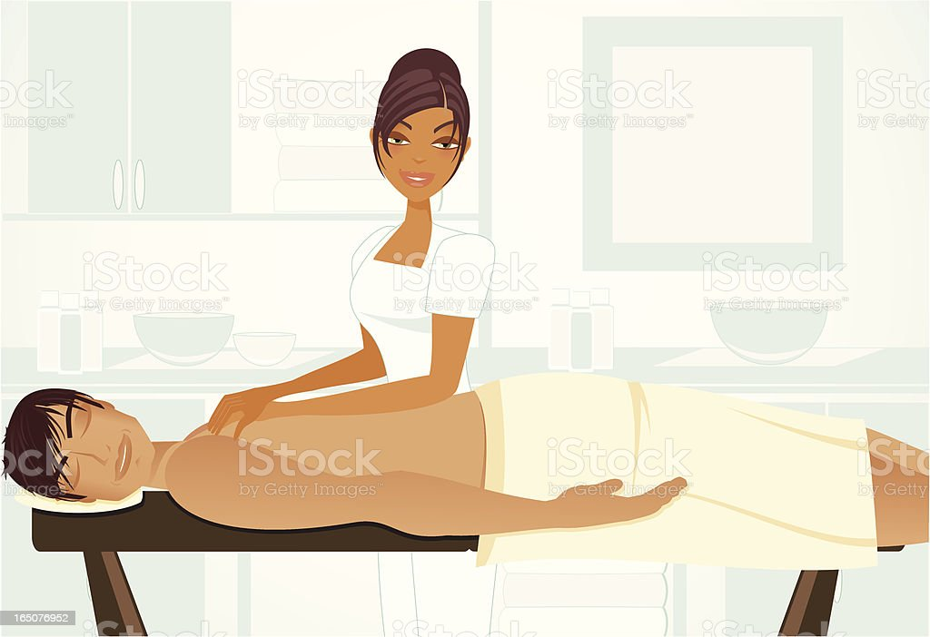 Spa Series Male Massage royalty-free stock vector art
