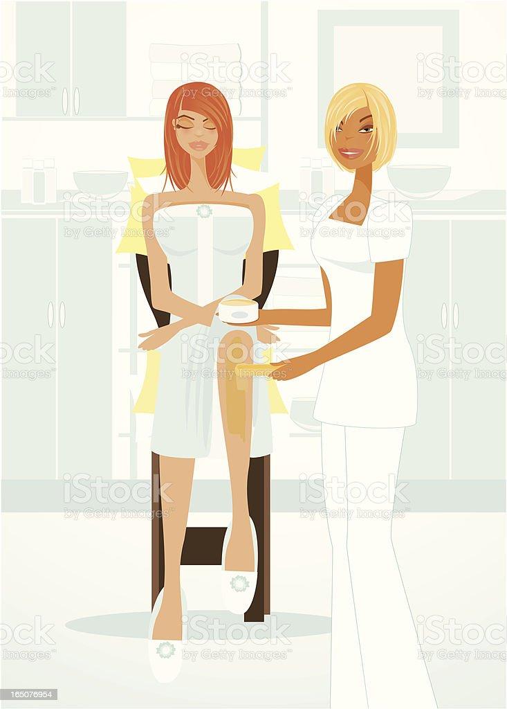 Spa Series Waxing Treatment vector art illustration