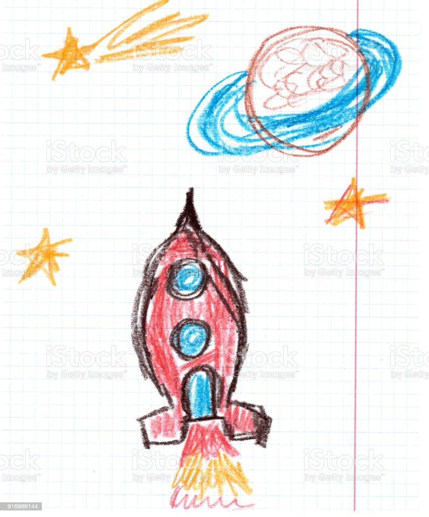 Space Rocket illustration vector art illustration