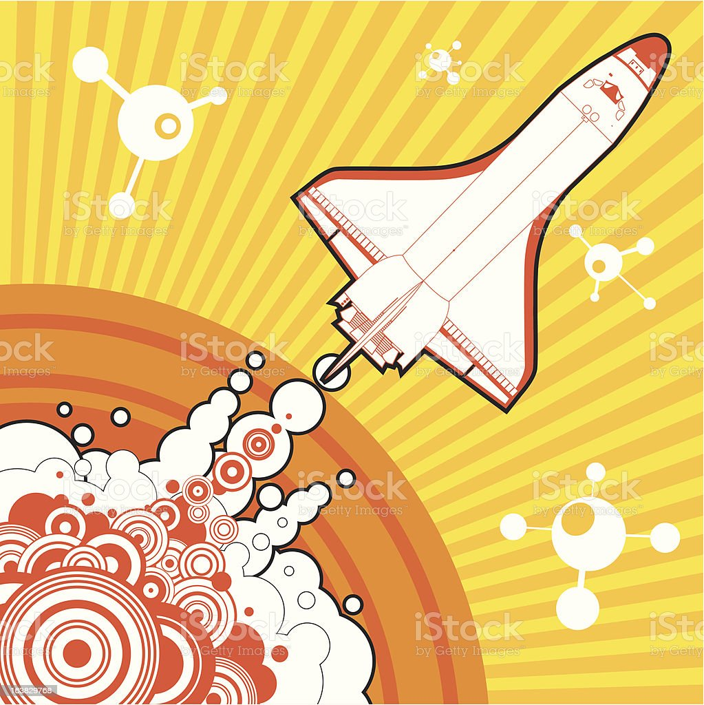 space shuttle royalty-free space shuttle stock vector art & more images of illustration
