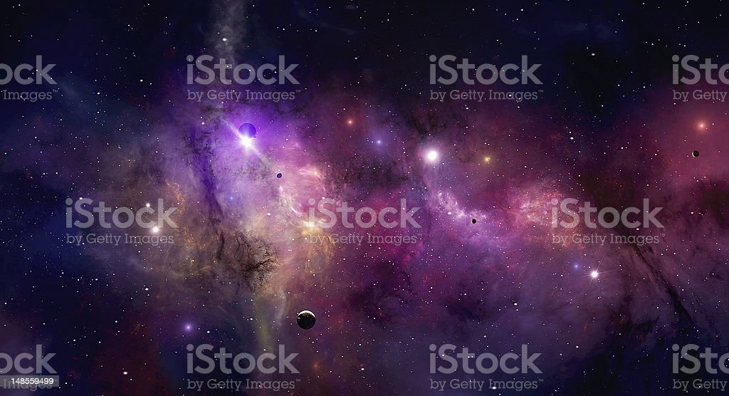 Space Universe vector art illustration