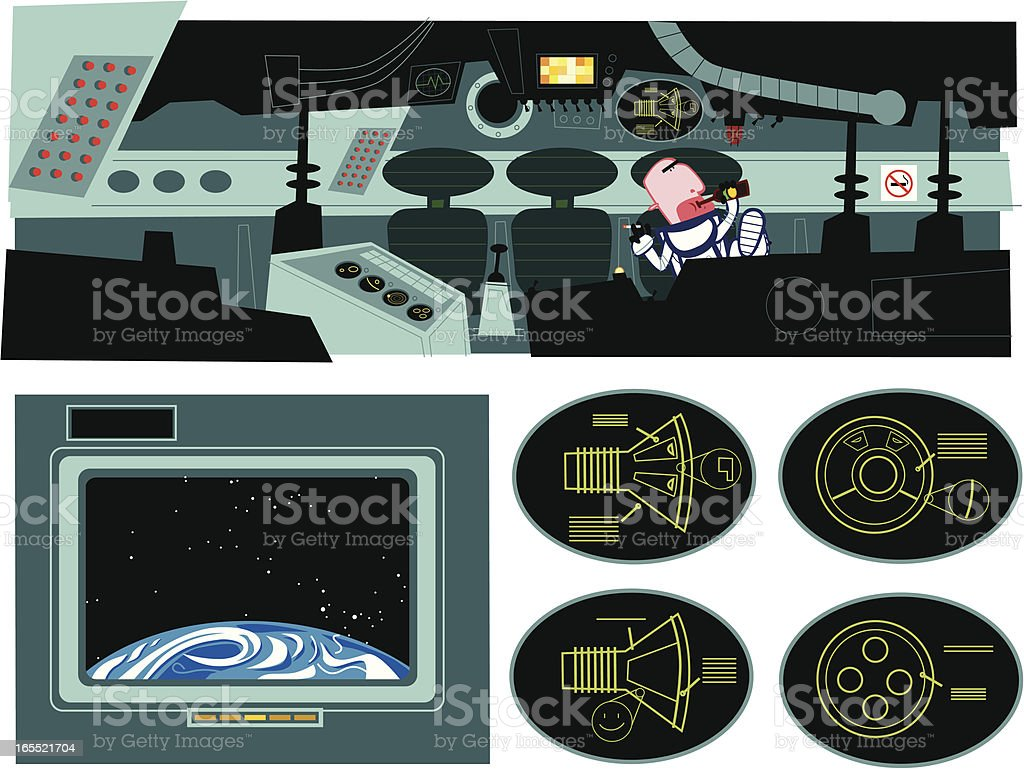 spaceship interior royalty-free stock vector art