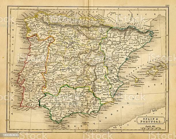 Portogallo Spagna Cartina.Spagna E Portogallo Mappa 1820 Immagini Vettoriali Stock E Altre Immagini Di Arrugginito Istock