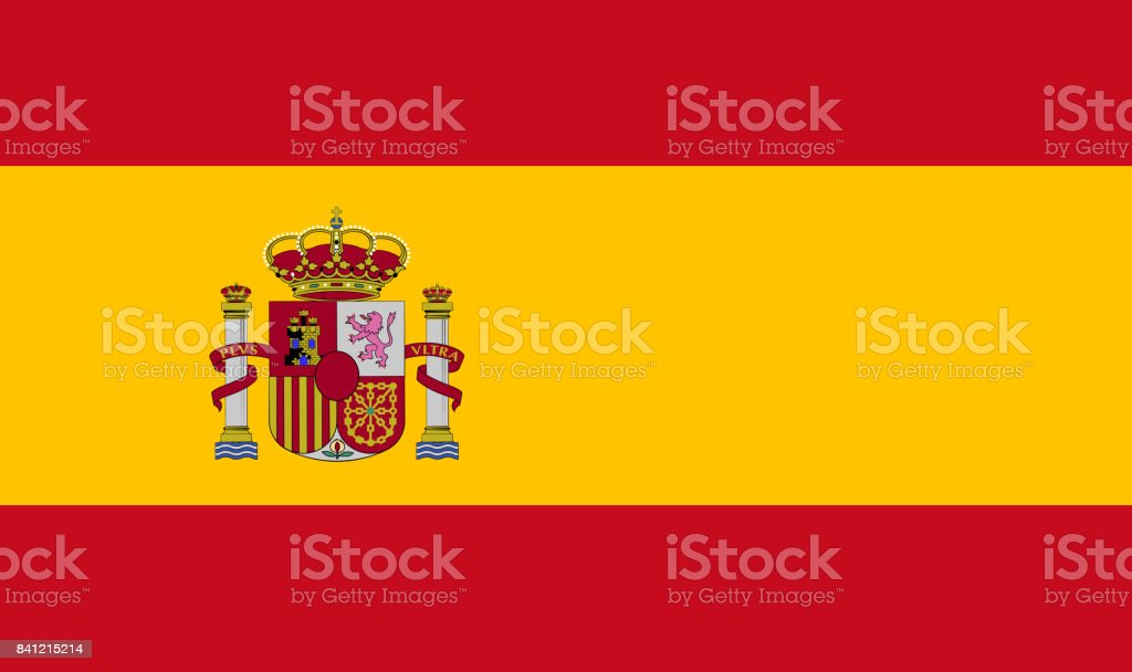 Spain flag vector art illustration