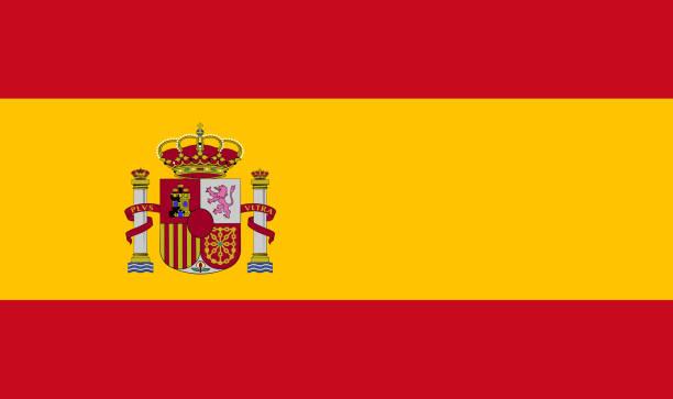 spain flag - spanish flag stock illustrations, clip art, cartoons, & icons