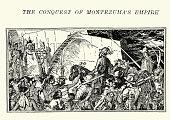 istock Spanish conquistadors meeting the Aztecs 532338184
