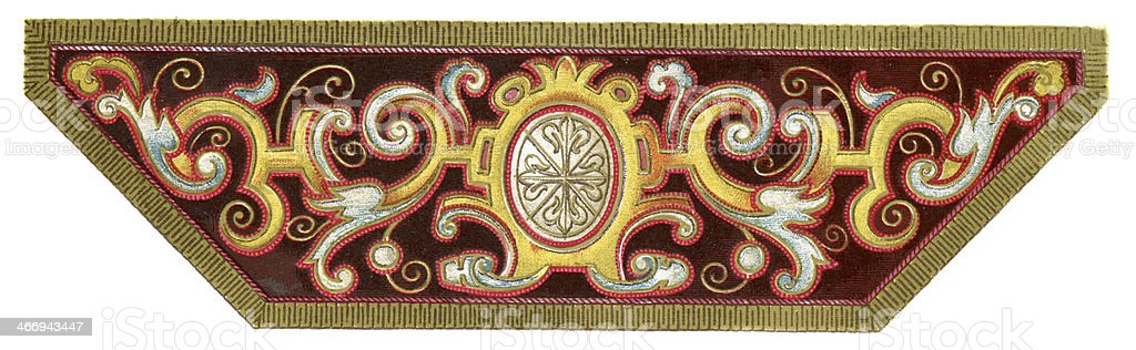 Spanish Embroidery Design 16th Century vector art illustration