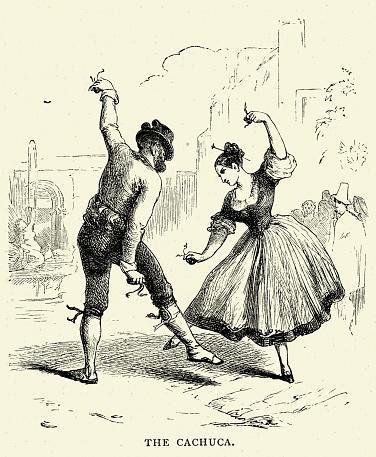 Spanish Pictures - Cachucha folk dance