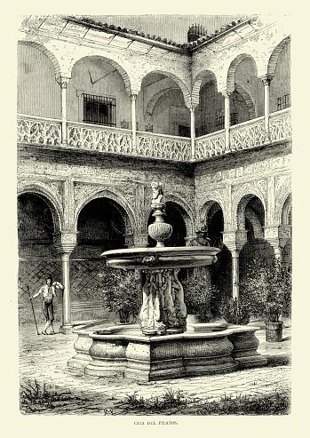 Spanish Pictures - Casa Del Pilatos Seville, Spain