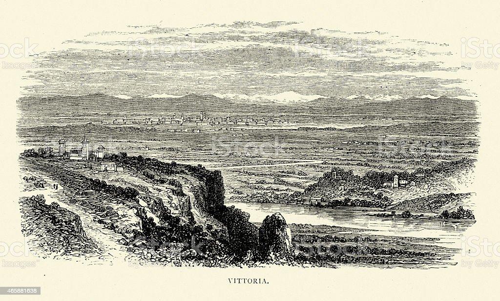 Spanish Pictures - Vitoria-Gasteiz vector art illustration