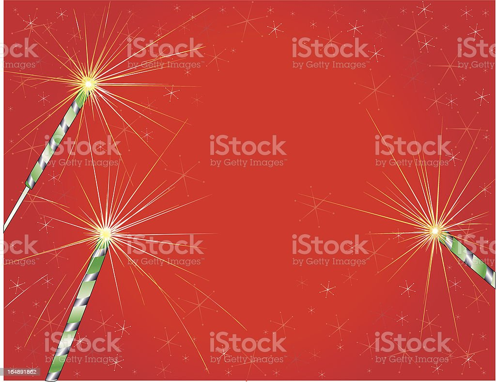 sparklers holiday royalty-free stock vector art