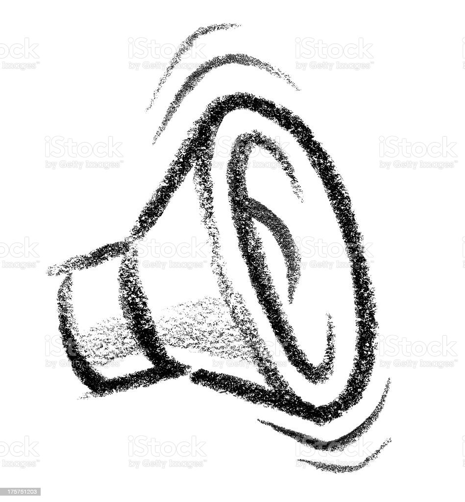 speaker icon vector art illustration