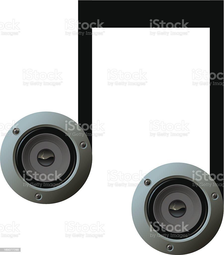 Speaker note royalty-free stock vector art