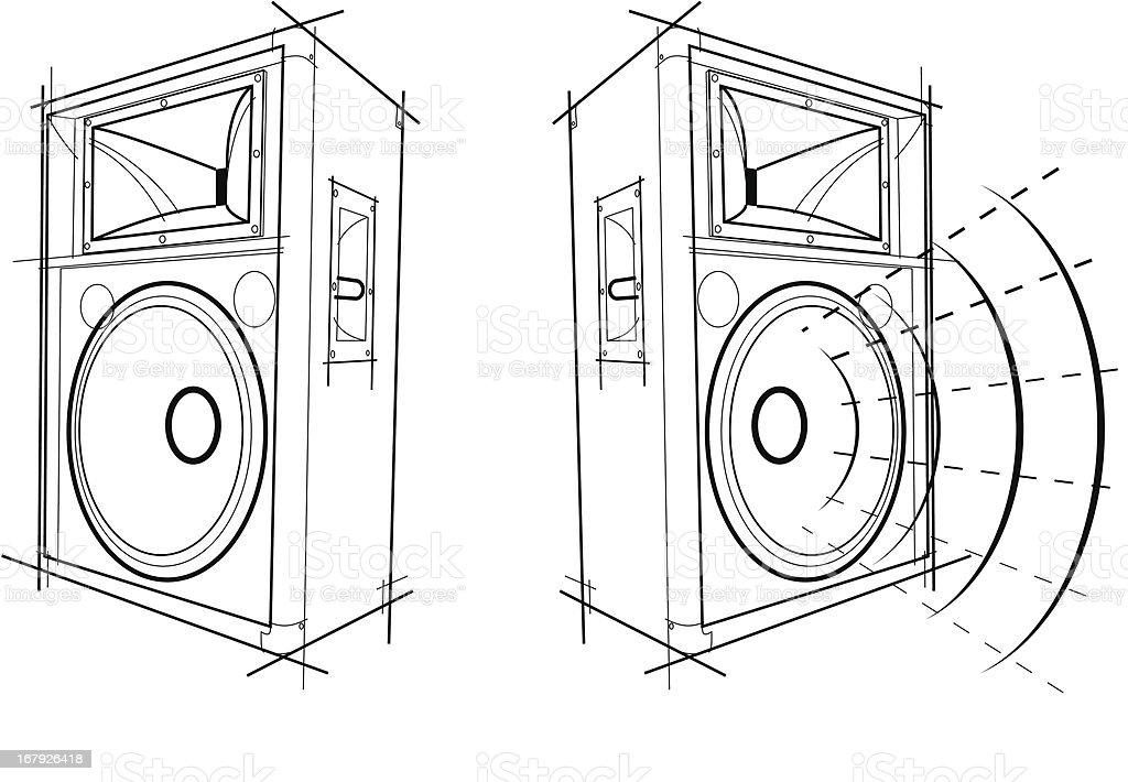 Free Line Art Converter : Speaker sketch stock vector art more images of arts