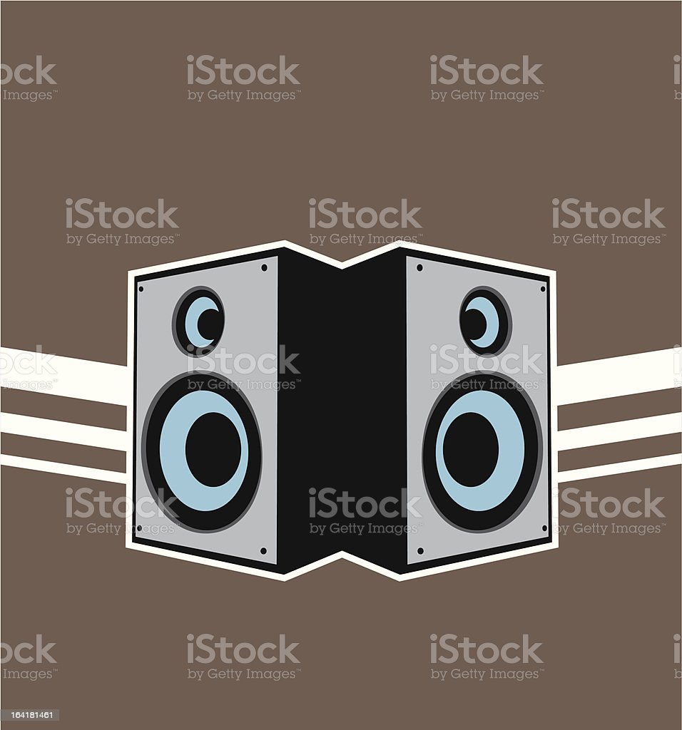 speakers abstract. speakers abstract royalty-free stock vector art