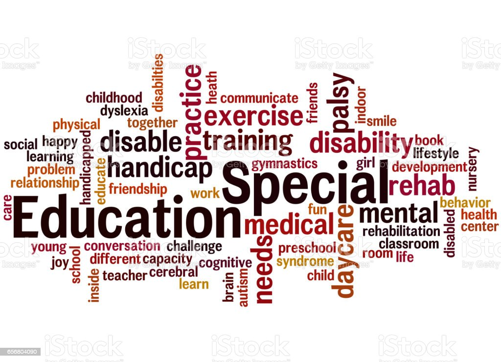 Special Education Word Cloud Concept 6 Stock Illustration ...